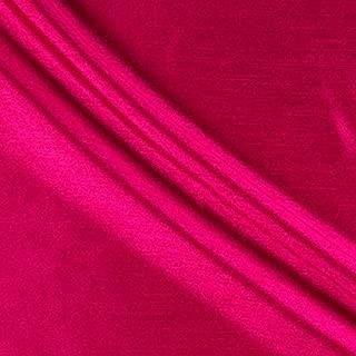 58'' Faux Dupioni Silk Hot Pink Fabric