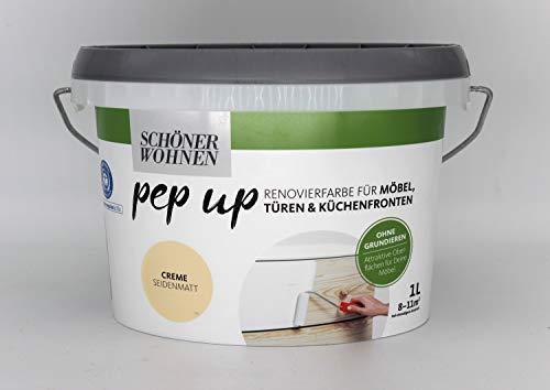 Pep up für Möbel Türen und Küchenfronten creme seidenmatt 1 l