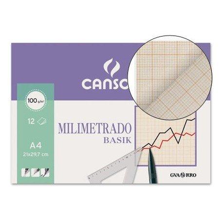 Canson 406323 Papier millimétré 12 pages