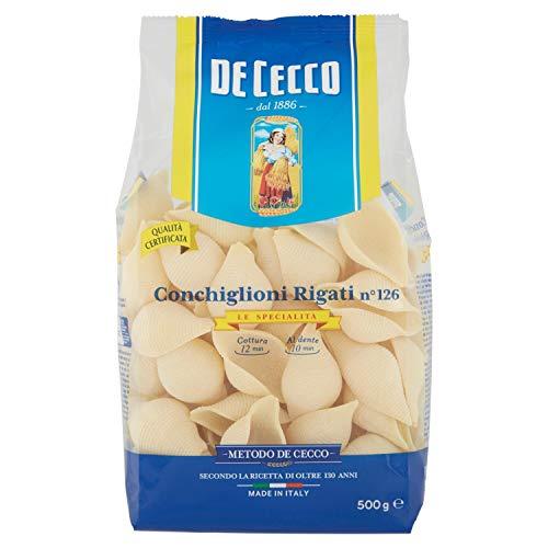 De Cecco - Conchiglioni Rigati n 126, Pasta di Semola di Grano Duro - 6 pezzi da 500 g [3 kg]