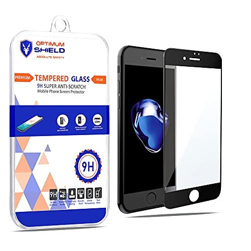 Optimum Shield 2 protectores de pantalla compatibles con I Phone 8 Plus, vidrio templado con 9 H duro 2.5 D, borde redondo, protector de arañazos con revestimiento ultra transparente