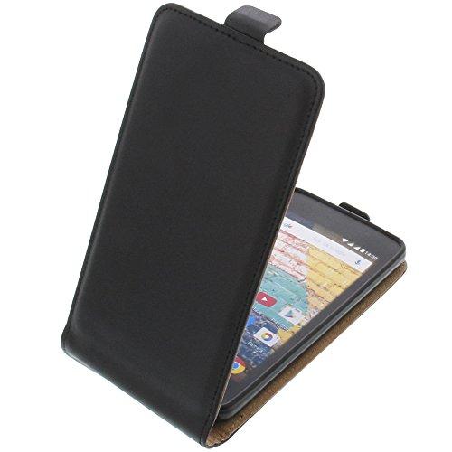 foto-kontor Tasche für Archos 45b Neon Smartphone Flipstyle Schutz Hülle schwarz