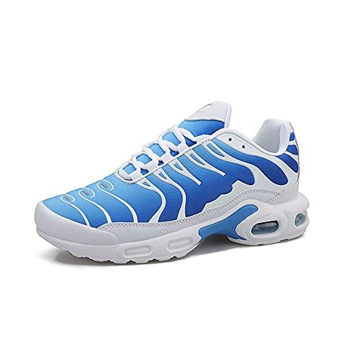 Unisex Casual Deportes Correr Zapatillas de deporte Versión Coreana de la Tendencia Atlética Malla Malla Transpirable Encaje Hasta Rendimiento Zapatos de Caminar Zapatillas, color, talla 36 EU