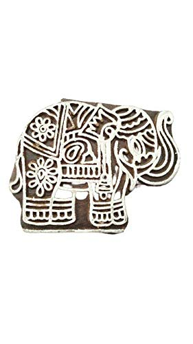 Elefantenform Stoffdruckstempel Crafty Elefantenform Holzblöcke - GRÖSSE: L X H (7 cm x 5 cm)