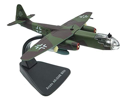Adorablemente 1: 144 Militares de Aeromodelismo, la Segunda Guerra Mundial Alemania Ar-234 de combate modelo terminado, los niños de los juguetes y objetos de colección (5 pulgadas tiempos; 6inch) Exh