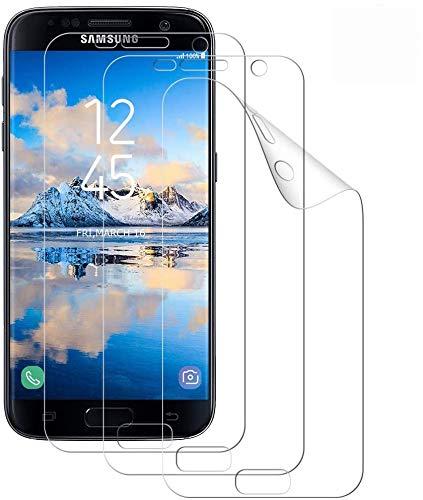WISMURHI [3 Pezzi Pellicola Protettiva per Samsung Galaxy S7,TPU Ultra Sottile Protezioni per Lo Schermo per Samsung S7 [Ultra HD] [Anti-graffio] [Non Vetro Temperato] Galaxy S7 Trasparente Pellicola