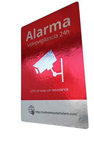 Pegatinas de alarma, 8 unidades (varios tamaños)