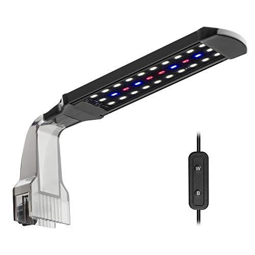 NICREW LED Aquarium Beleuchtung Clip, Aquarienlampe für einen Pflanzenwuchs mit Tageslicht und Mondlicht für Nano Aquarium, 10W