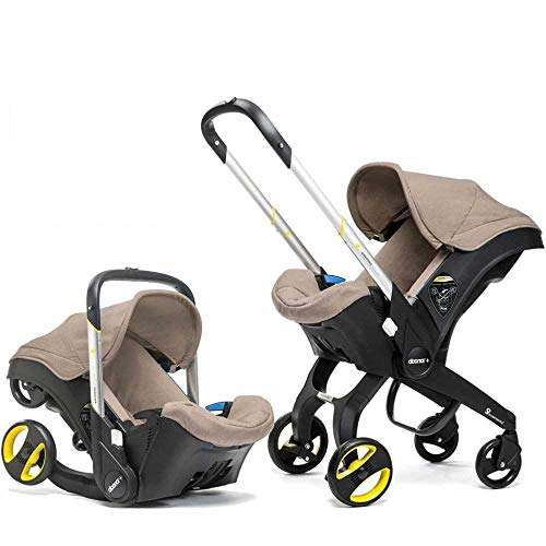Doona Car Seat Stroller Group 0-1 (Dune), Revolutionary 2-in-1 Group 0-1 Car Seat that Converts into a Pram in Seconds