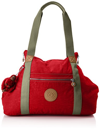 Kipling ART M Bolsa de tela y playa, 58 cm, 26 litros, Rojo (True Red C)