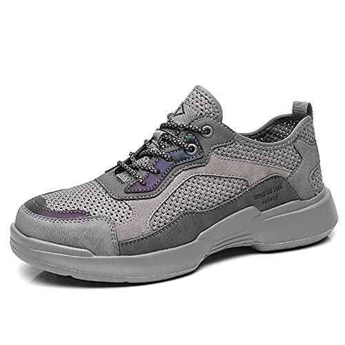 Zapatos de Trabajo Zapatos de Seguridad de los Hombres Desodorante de Verano Toe Toe TRIPANTES PUNTURA A Prueba de Puntas Ligeras de Malla Transpirable Zapatillas industriales
