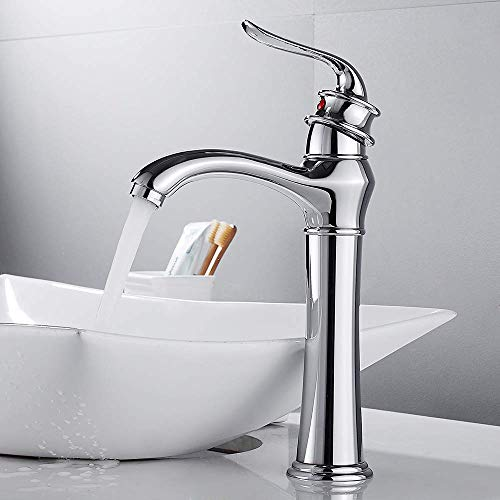 Hoge kraan mengkraan chroom afwerking deck gemonteerd een gat bad wassen vulstof klassieke kraan Met broek maat 1-2.