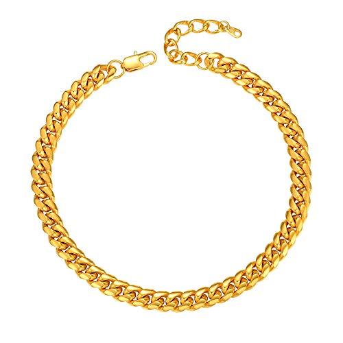 PROSTEEL Mens Gold Chain 14inch Short Choker Neck Chain