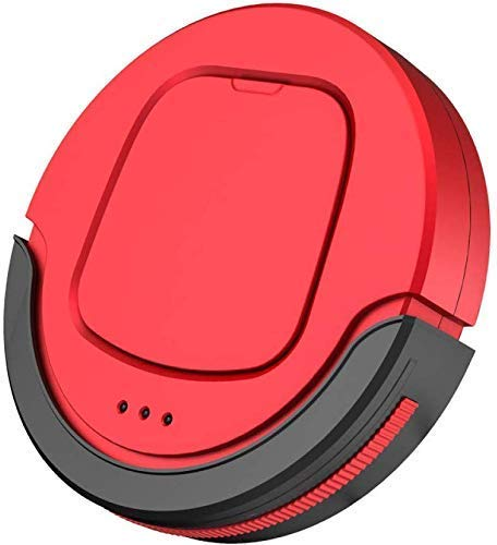 RVTYR Limpieza del Robot Robot Aspirador Inteligente de Inicio automático Barrido Polvo Esterilizar Inteligente de Planificación móvil de Control Remoto, de vacío (Color : Red)