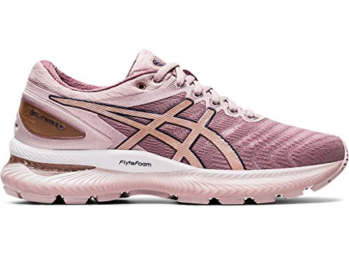ASICS Women's Gel-Nimbus 22 (D) Running Shoes, 6W, Watershed Rose/Rose Gold