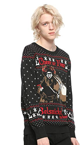 Tvmoviegifts The Office Belsnickel Ugly Sweater (XS) Black