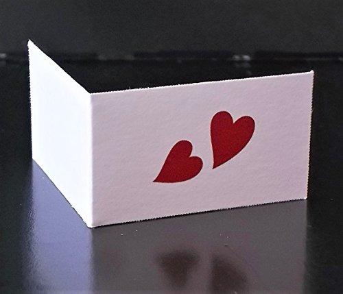 Vinciprova Le Gemme di Venezia 100 Bigliettini Due Cuori Colore Rosso A Rilievo Matrimonio Sposi Stampa Omaggio per Bomboniera