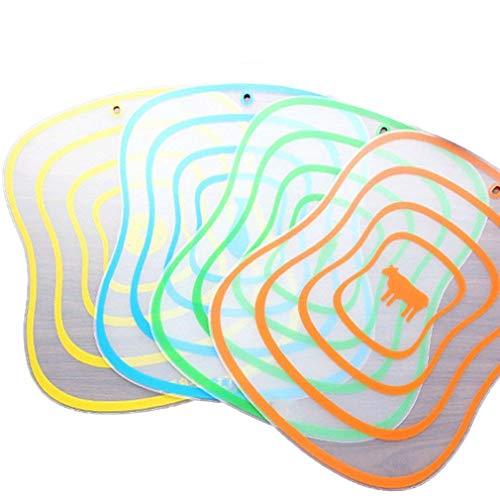 Tabla de Cortar Fruta Antideslizante Placa de Corte antibacterias de fácil Limpieza (Color Aleatorio S)