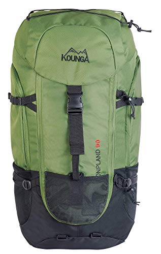 Kounga Bonpland Mochila  Adultos Unisex  Verde Oscuro  90L