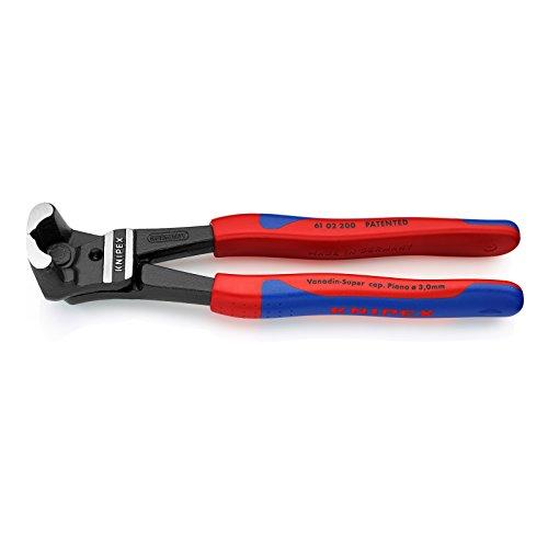 Preisvergleich Produktbild KNIPEX 61 02 200 Bolzen-Vornschneider hochübersetzt schwarz atramentiert mit schlanken Mehrkomponenten-Hüllen 200 mm