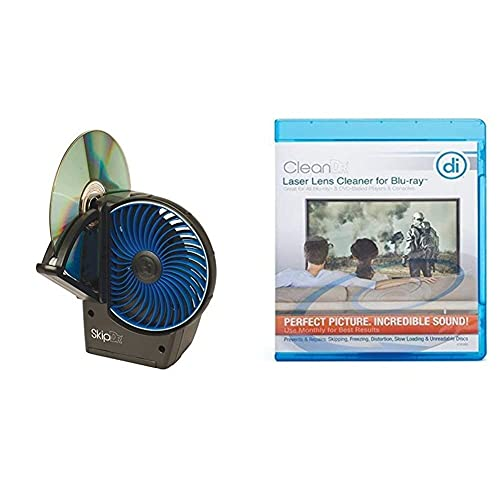 Digital Innovations SkipDr DVD and CD Motorized Disc Repair System & Digital Innovations CleanDr for Blu-Ray Laser Lens Cleaner for Blu-Ray/DVD / PS3 / PS4 / Xbox/Xbox 360 / Xbox ONE (4190300)