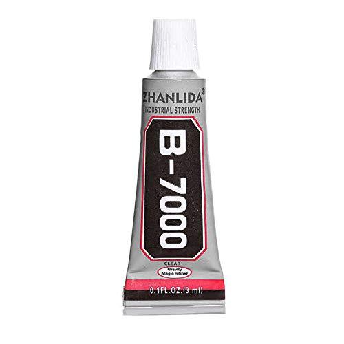 B7000 Pegamento transparente para reparaciones de Pantalla Smartphone, Adhesivo Apple, Samsung, Xiaomi, Huawei, chasis, Tapa, Repuestos Tablet y arreglos de zapatos, bisutería (3ml)