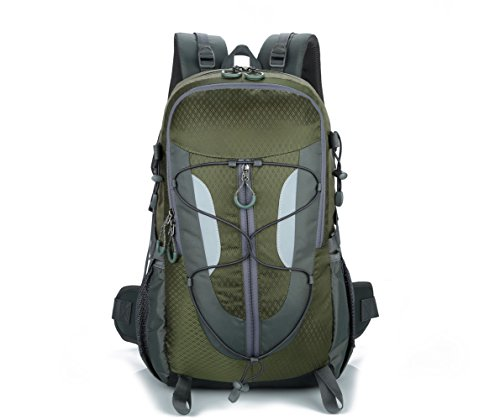 Hiking Backpack Sports Backpack 30 Liter Traveling Backpack for Men Women (army green)