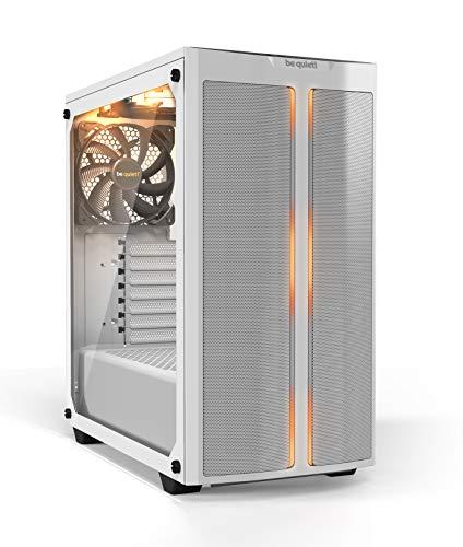 be quiet! Pure Base 500DX Midi-Tower PC-Gehäuse Weiß 3 vorinstallierte Lüfter, Integrierte Beleucht, BGW38