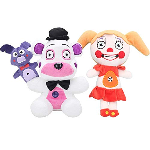 JIAL Cinco Noches en la Hermana de Freddy Ubicación Ballora Circus Baby Ennard Funtime Freddy Foxy Llush Doll Toys 18cm 2 unids Chongxiang (Color : 2PCS)