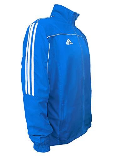 Preisvergleich Produktbild Adidas Martial Arts Leichter 3-Streifen Trainingsanzug,  100% Polyester,  langärmelig,  Blau / Weiß,  152 (Größe M)