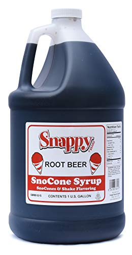 Snappy Popcorn Root Beer Sno Cone Syrup, 1 Gallon, 11 Pound
