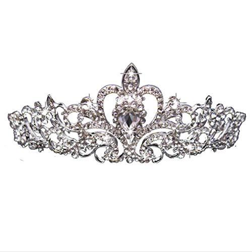 HENGSONG Tiara Cristal Couronne avec Strass Peigne pour Couronne De Mariée Proms De Mariage Concours Princesse Parties Anniversaire