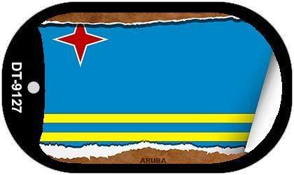 Koopje Wereld Aruba Land Vlag Scroll Hond Tag Kit Metalen Nieuwigheid Ketting (Met Sticky Notes)