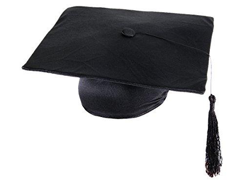 Alsino Toque étudiant diplômé Chapeau laurea Tocco Dr Hut Noir avec Pendentif Taille Unique Convenable aux Adultes et aux Ados