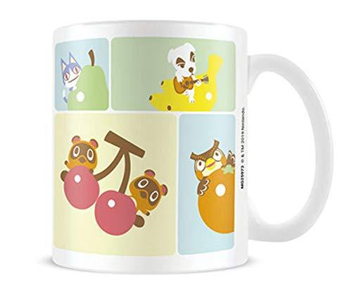 Animal Crossing Tasse, Figuren, Melinda, Tom Nook, 315 ml, Nintendo Keramik, Weiß 259736 Bunt Standard