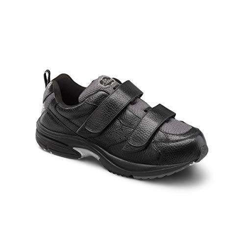 Dr. Comfort Winner-X Men's Therapeutic Diabetic Extra Depth Shoe: 12 Wide (W/4E) Black