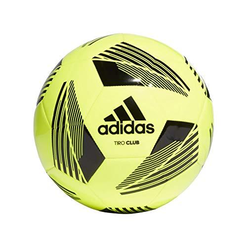 adidas Mens TIRO CLB Soccer Ball, Team solar Yellow/Black, 5