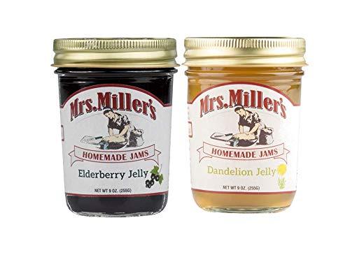 Mrs. Miller's Homemade Elderberry Jelly and Dandelion Jelly Variety...