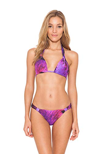 Lenny Niemeyer Purple Bloom Adjustable Bikini Bottom (X-Large)