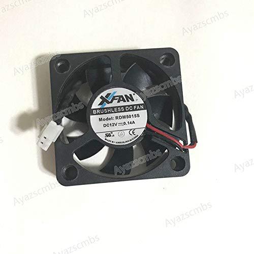 Ayazscmbs Raffreddamento Ventilatore compatibili per NIUTOP XINRUILIAN XVentilatore RDM5015S Ventilatore 50x50 x15mm 0.14A 12V 2Pin