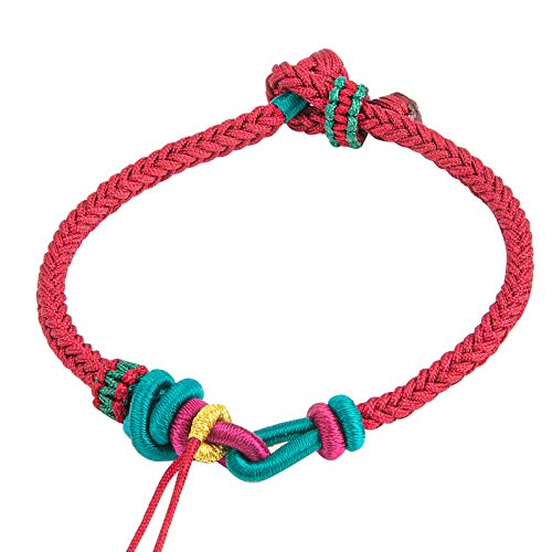 Yiboboom China Feng Red String Bracelet Red Rope Braided Bracelet for Good Luck and friendship,Support DIY