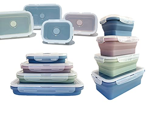 ICHC Set of 4 Collapsible Storage Containers -...