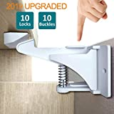 [2019 Upgrade] BOOGO 10 Pcs Child Safety Cupboard Lock,Baby Safety Proof Kit Cupboard