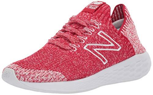 New Balance Women's Cruz Sock Fit V2 Fresh Foam Running Shoe, Team red/Arctic Fox, 6 B US