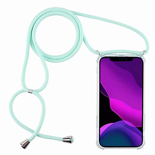 2ndSpring Funda con Cuerda Compatible con Samsung Galaxy J5 2016/J510,Colgante Collar Correa de Cuello Cadena Cordón,Menta Verde