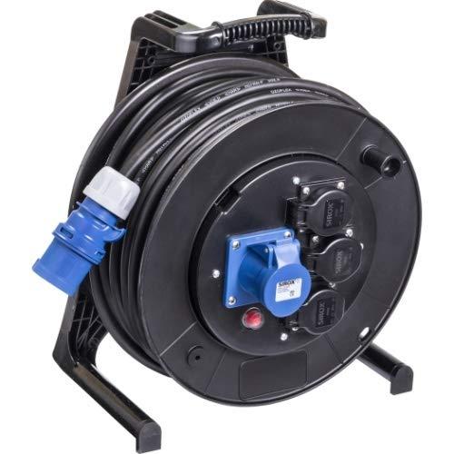 JUMBO® L CEE-Kabeltrommel 230 V mit 3 Steckdosen H07RN-F