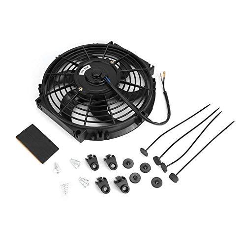 linger Ventilador Universal del Ventilador eléctrico 10in Electric Slim Fan Push/Pull 12V con Accesorios de instalación Ventilador de enfriamiento del Ventilador