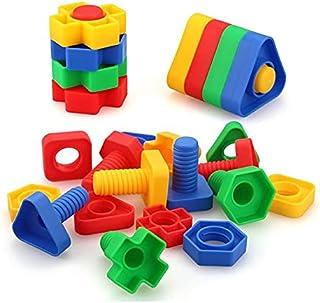 العاب تنمية مهارات مسامير وصواميل بلاستيك - متعددة الالوان - من ويني تويز