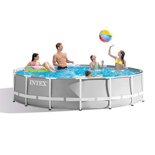 Intex Round Prism Frame Pool Set   14ft x 42