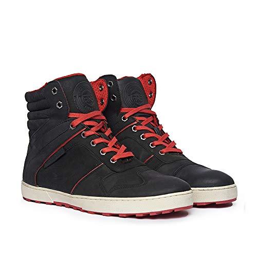 Royal Enfield Men's Black Leather Outdoor Boots-8 UK (42 EU) (SHOSS1801)